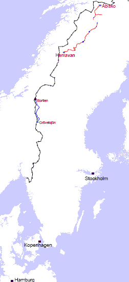 kungsleden karte Kungsleden